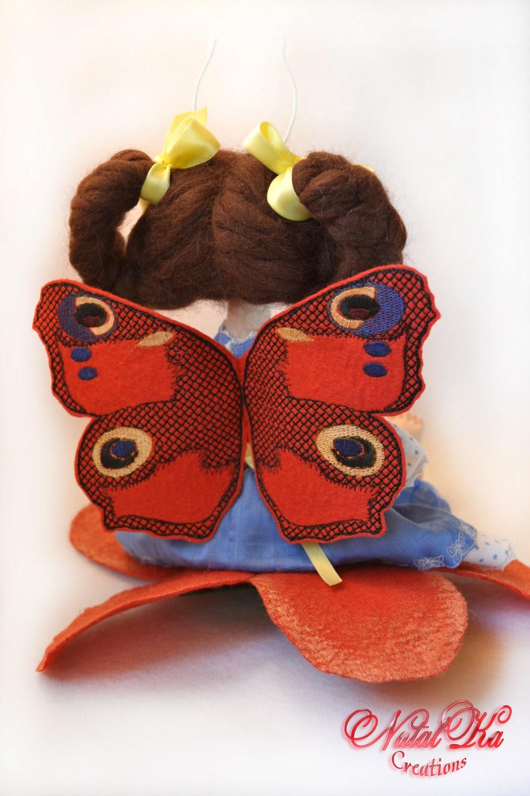Крылья для текстильной куклы
