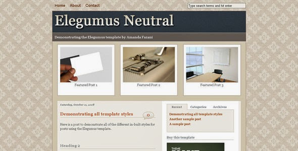 Elegumus Business Theme Package for Blogger