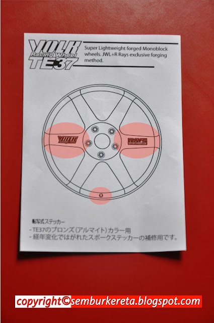 TE37 TIP HOW TO INSTALLED TO YOUR WHEEL