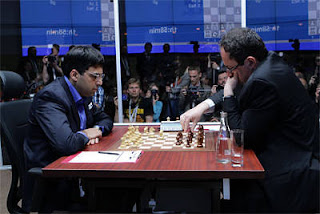 Echecs à Moscou : Boris Gelfand et Vishy Anand - Photo © Chessbase