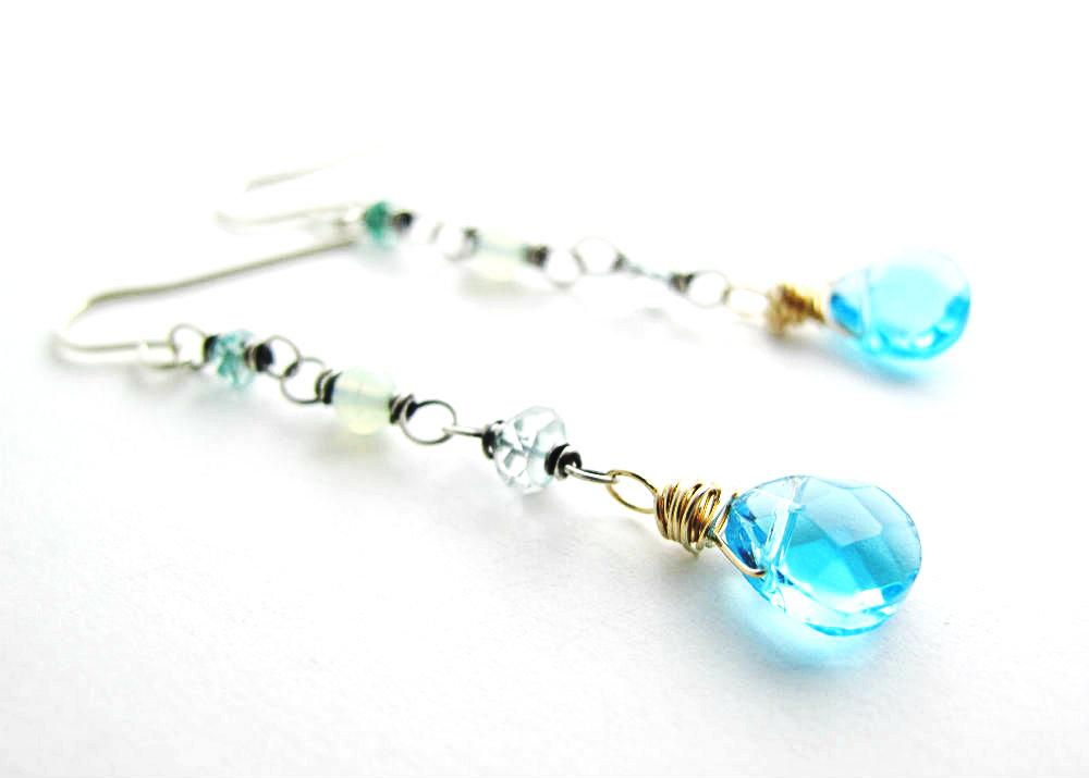 Siren's Song Earrings by Beth Hemmila of Hint Jewelry