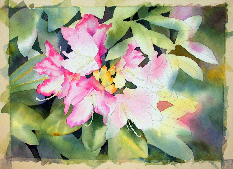 flowers art washes - photo #13