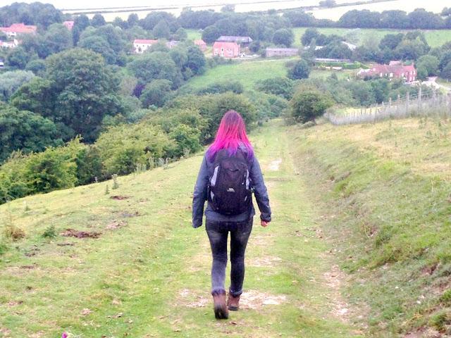 Jennifer Tulip walking in the Yorkshire Wolds