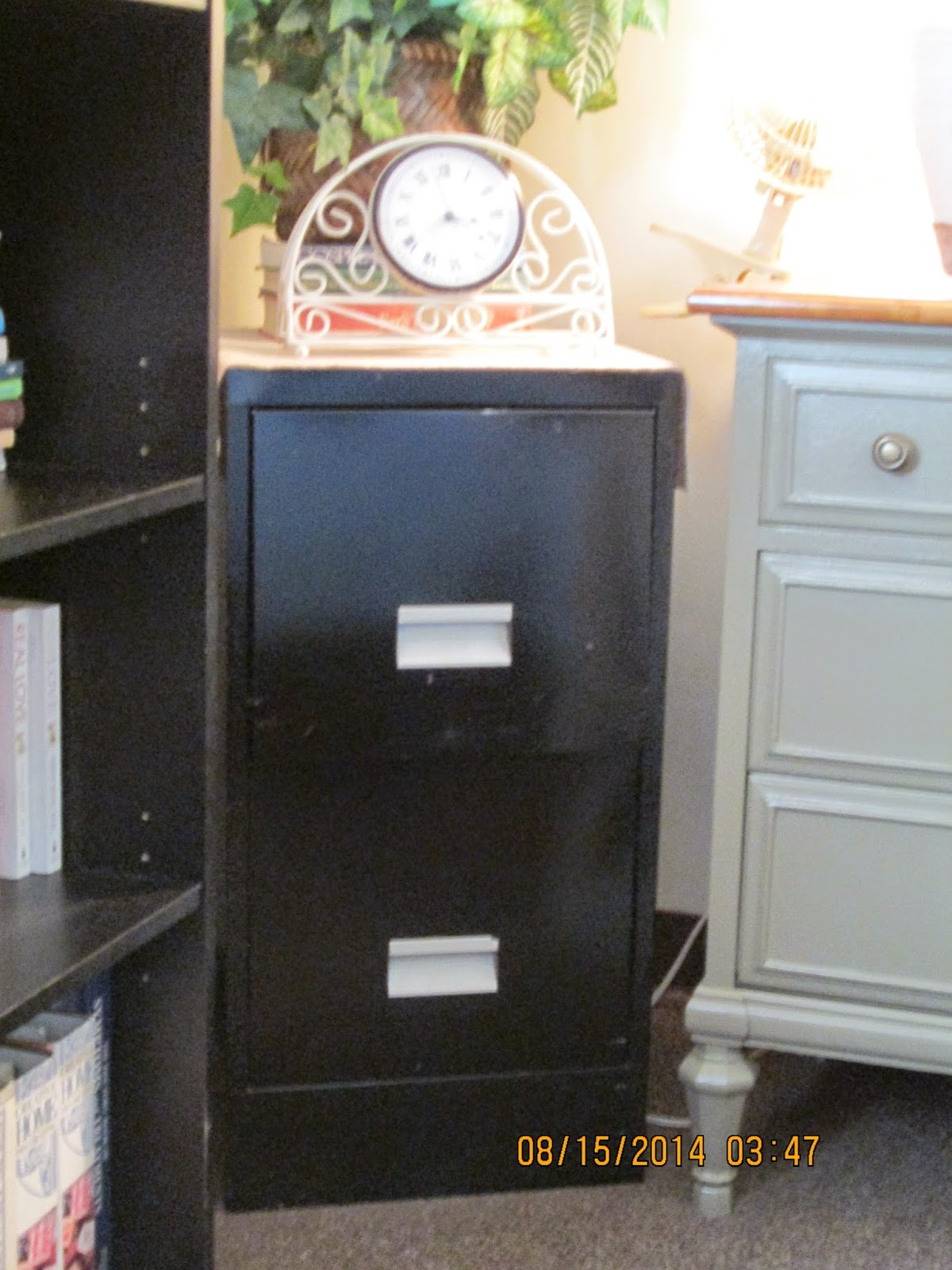 millie's: Redecorating An Old File Cabinet With Contact Paper
