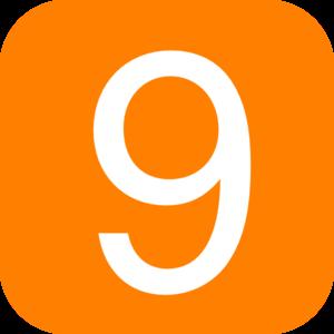 Orange Number 9 Clip Art
