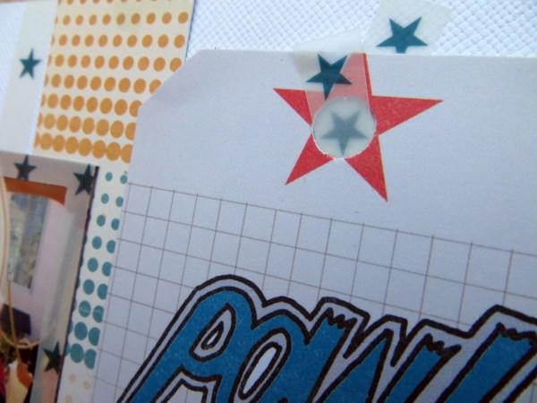 Jimjams - layout detail - vellum tag tie - for SJ Crafts