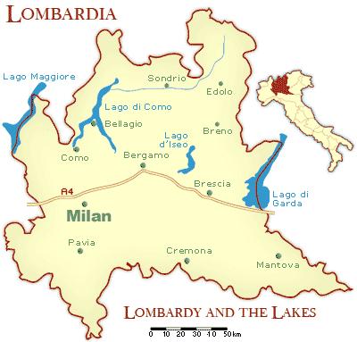 Lombardia Mapa de la Ciudad