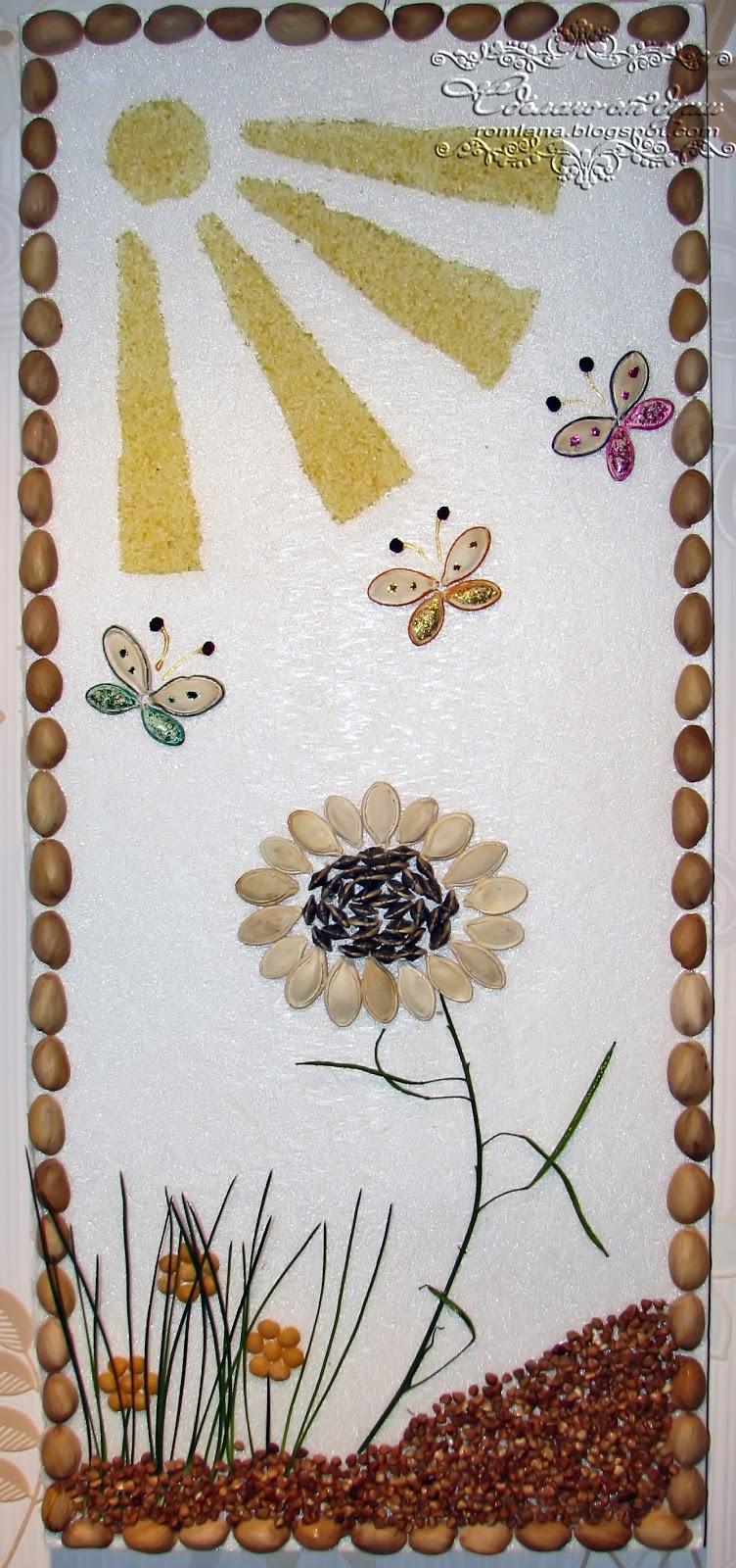Аппликации и поделки из семян и круп 90 фотографий - Pinterest 74