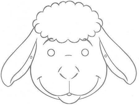 Mascaras de oveja en foami - Imagui