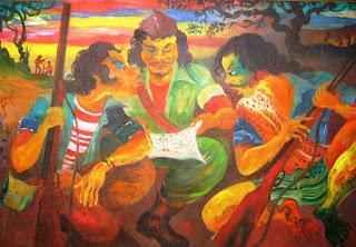 Lukisan Hendra Gunawan menggambarkan Situasi Perang