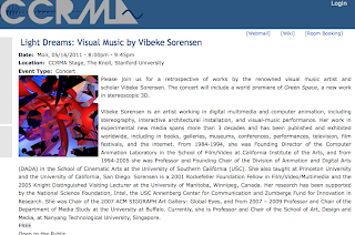CCRMA Stage - Light Dreams: Visual Music by Vibeke Sorensen
