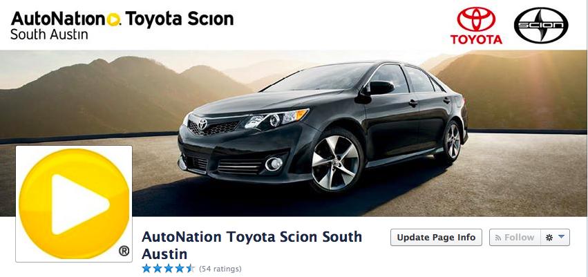 ... AutoNation Toyota South Austin!  Https://www.facebook.com/AutoNationToyotaSouthAustin