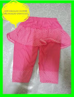 Seluar Skirt Kanak-Kanak : Pink