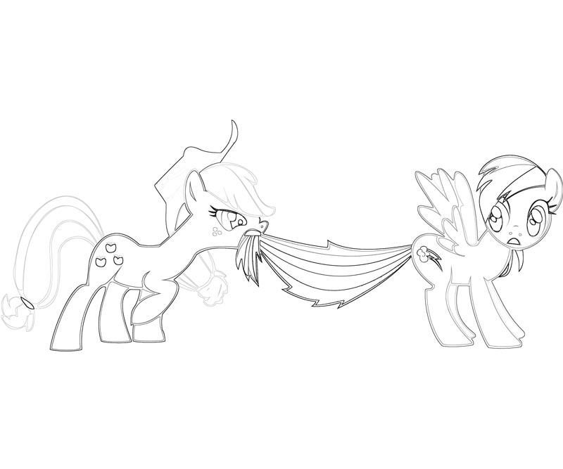 #40 My Little Pony Applejack Coloring Page