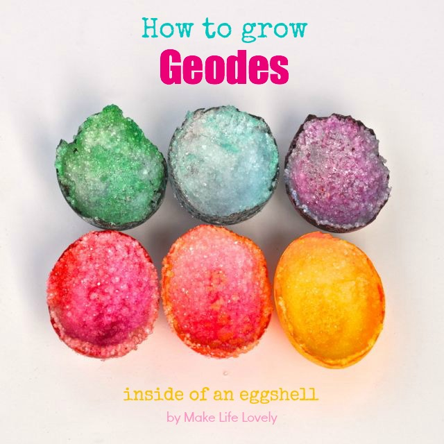How to grow a geode in an egg make life lovely