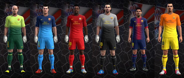 PES 2013 FC Barcelona 12 13 Kit Set by Nemanja