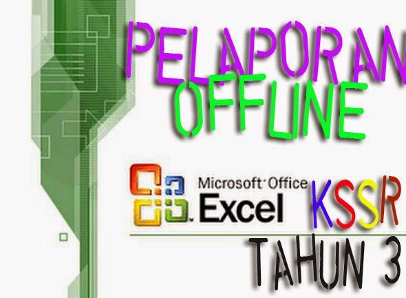 Template Offline Pelaporan Bahasa Melayu KSSR Tahun 3