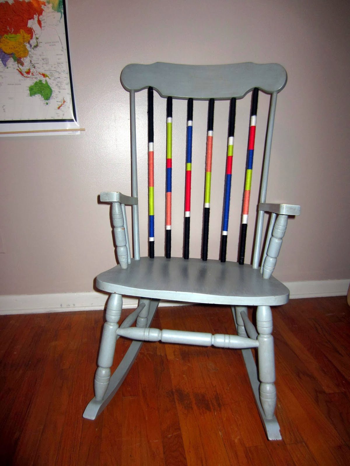 Kelsey Inspired: Yarn Bomb Rocking Chair!