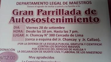 GRAN PARRILLADA DE AUTOSOSTENIMIENTO