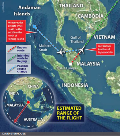 mh370, boeing 777, new route, hijacked
