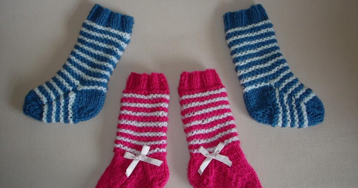 2-needle baby socks
