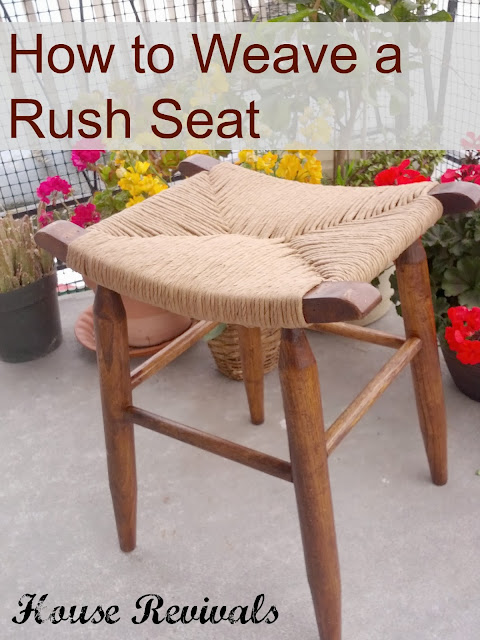 How To Weave A Rush Seat