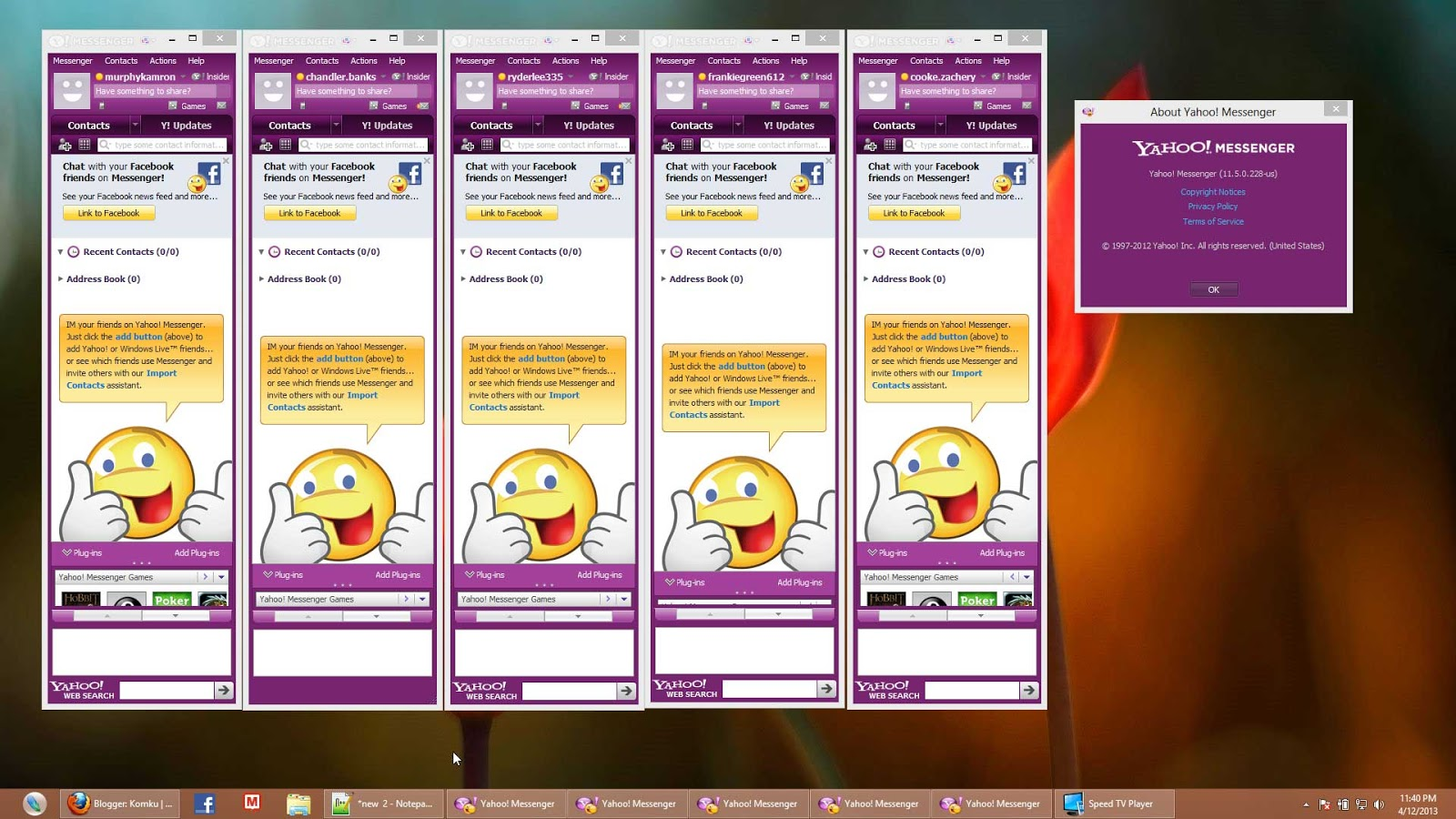 telecharger yahoo messenger gratuit 2013