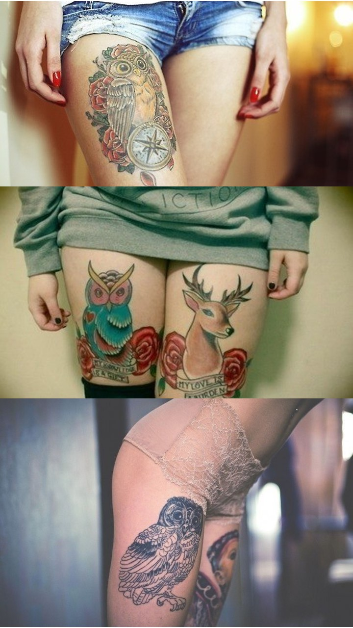 Много разных тату