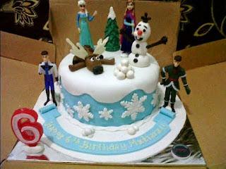 Gambar Kue Ulang Tahun Frozen