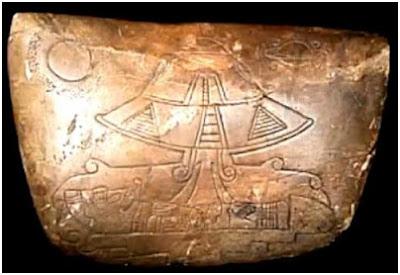 Piedra labrada encontrada en la Zona Maya