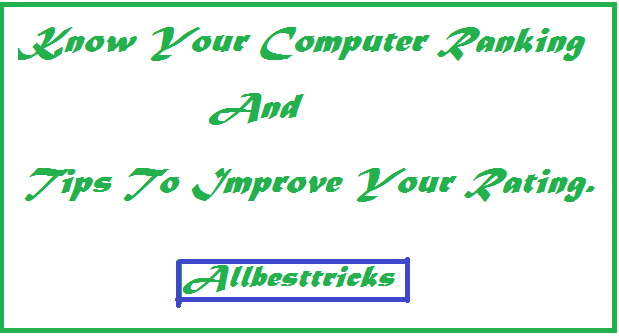 steps to check your pc rating and ranking