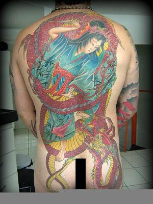 How to Tattoo Dragao vermelho Costas