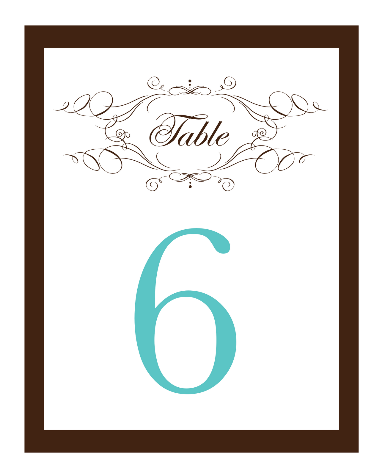 Luscious image for free printable wedding table numbers