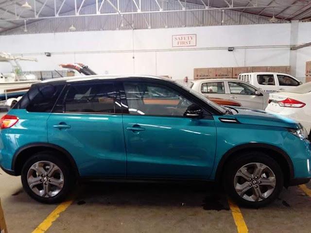 Suzuki Vitara suv spied sideview