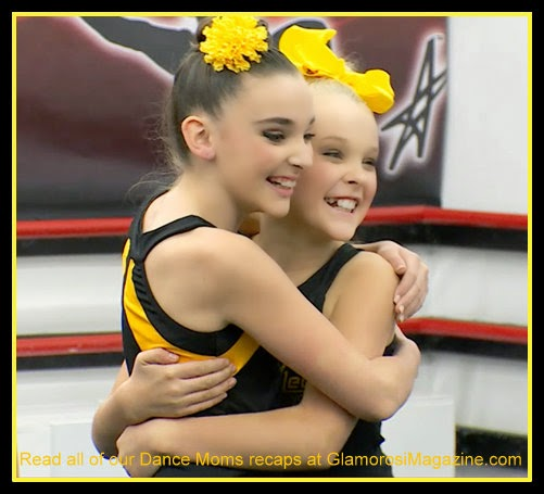 L to R - Kendall Vertes and JoJo Siwa on Dance Moms S5 E12