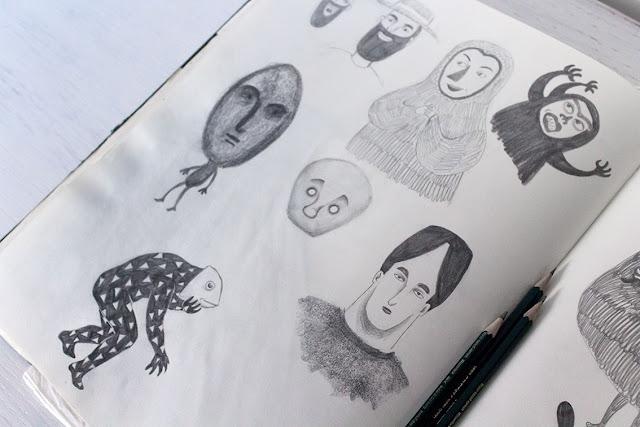 Mar Villar - Dibujos de máscaras 1