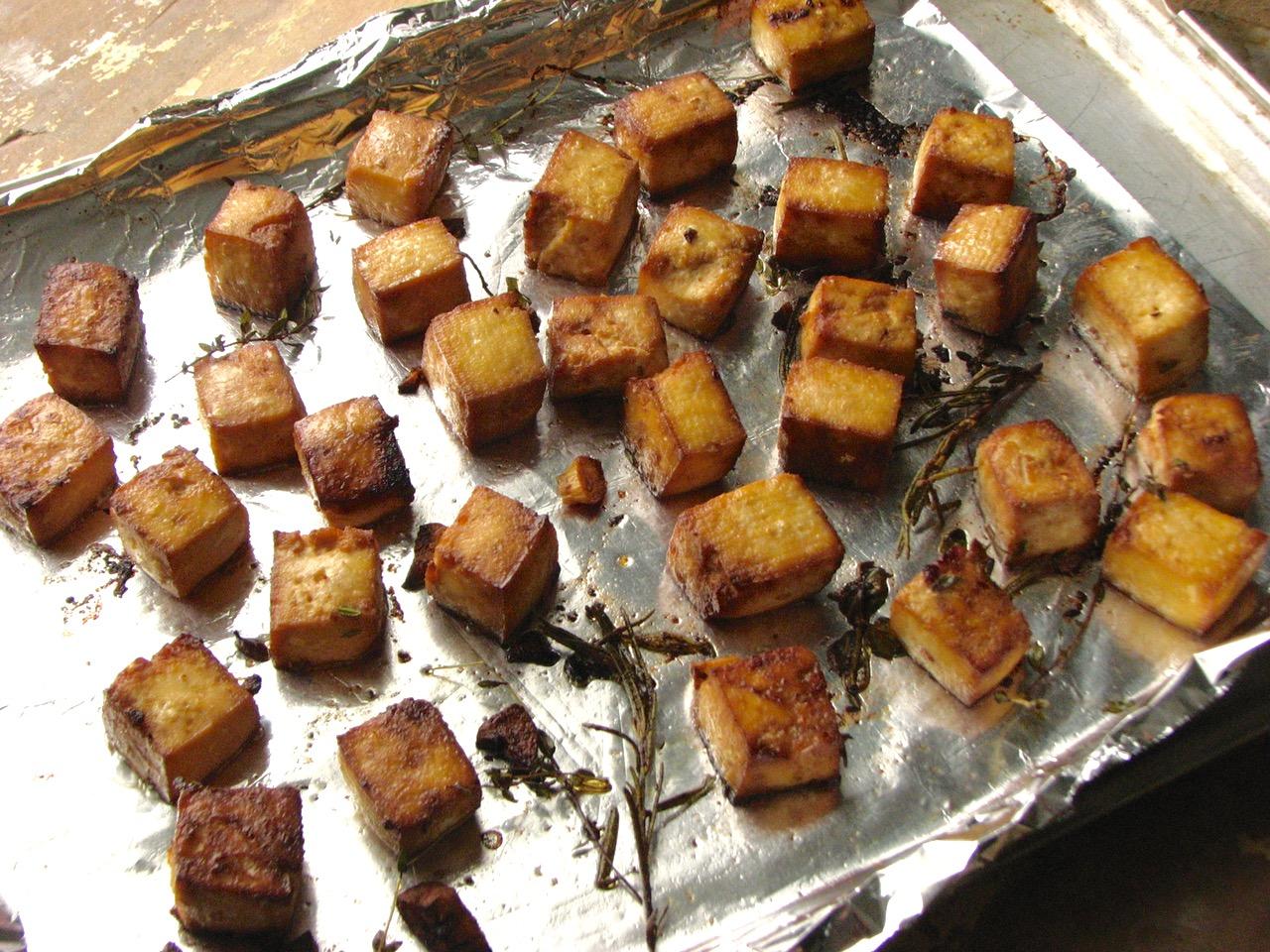 Delectably Mine: Lemon Herb Baked Tofu