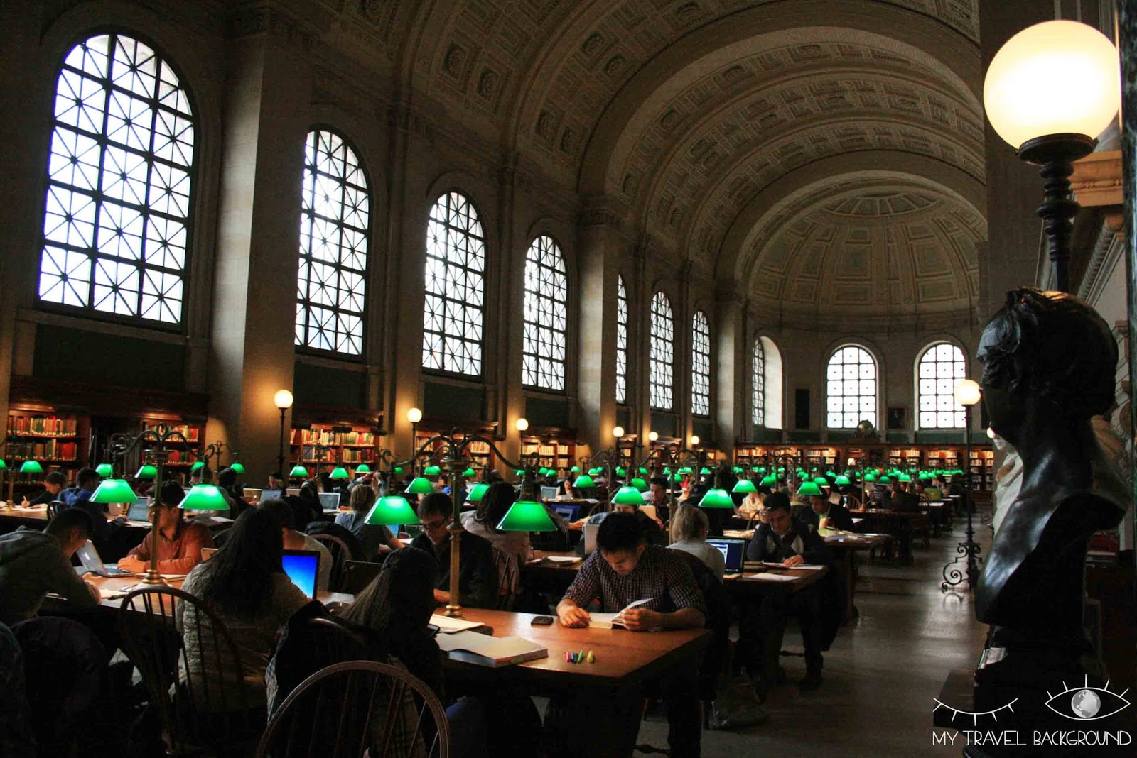 My Travel Background : Boston Public Library