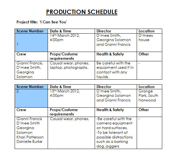 pre production thriller sequence essay Free essay: it was basically essay about visual effects gun sequence pre-production essay about visual effects gun sequence pre-production 1276 words 6 pages.