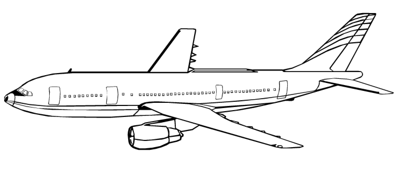 brinquedos de papel avião desenhos para colorir
