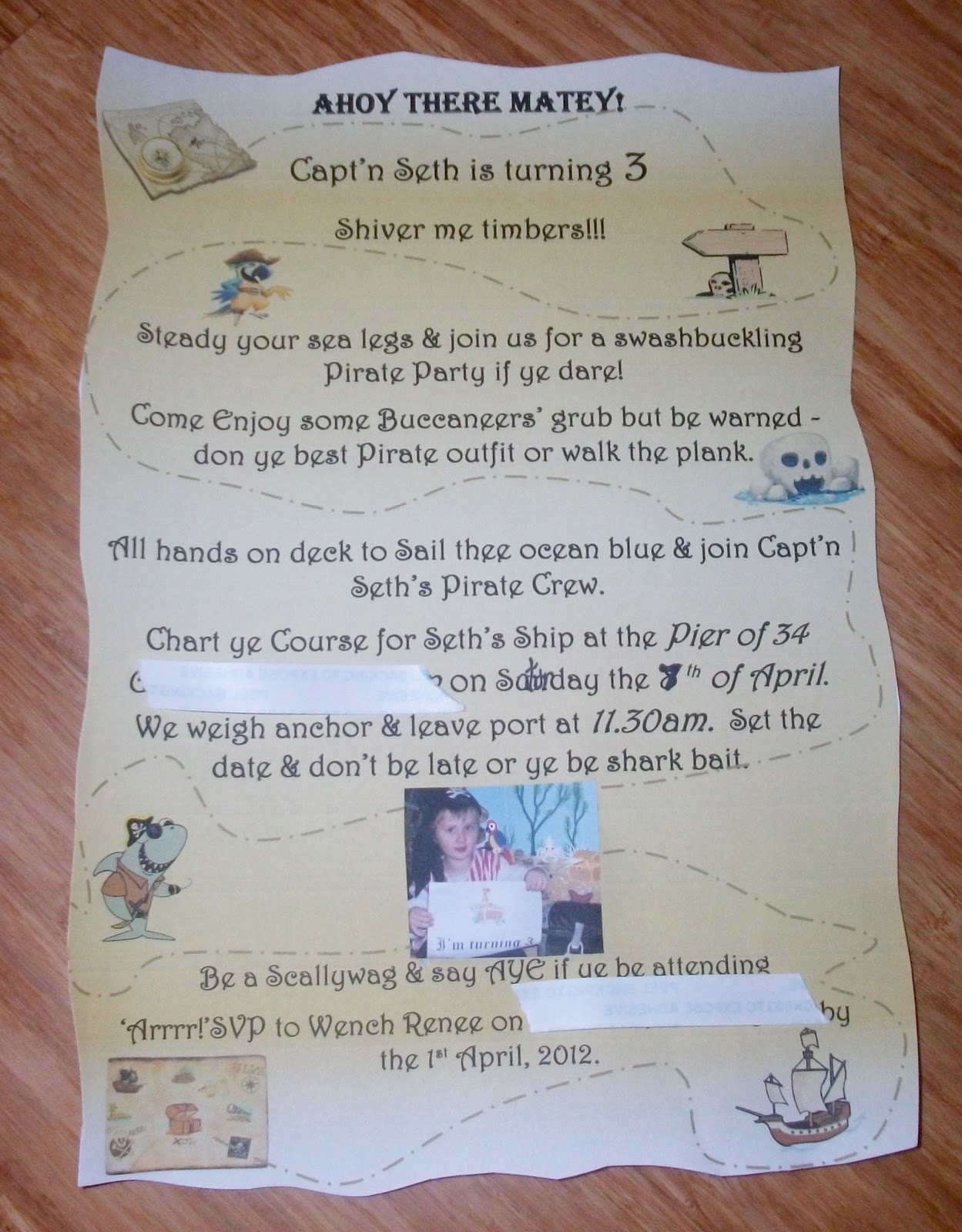 Adventures at home with Mum: Pirate Party - Invites & Decorations