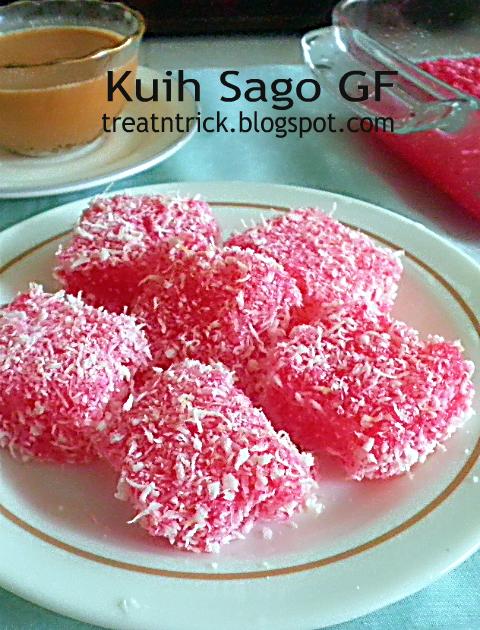Kuih Sago GF Recipe @ http://treatntrick.blogspot.com