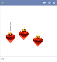 Heart ornaments for Facebook