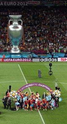 Фото Укринформ: сборная Испании - чемпион Европы