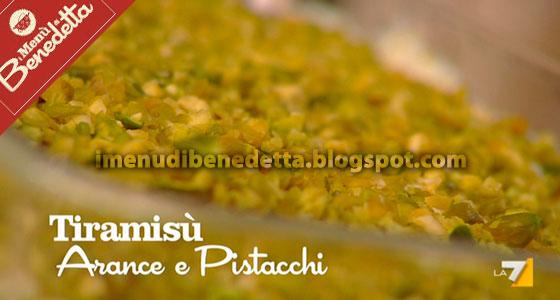 Tiramisu all'Arancia e Pistacchi di Benedetta Parodi