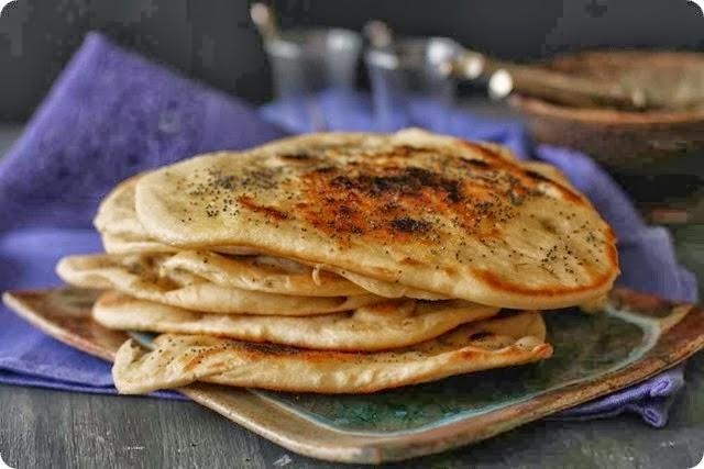 Pan naan estilo hindu
