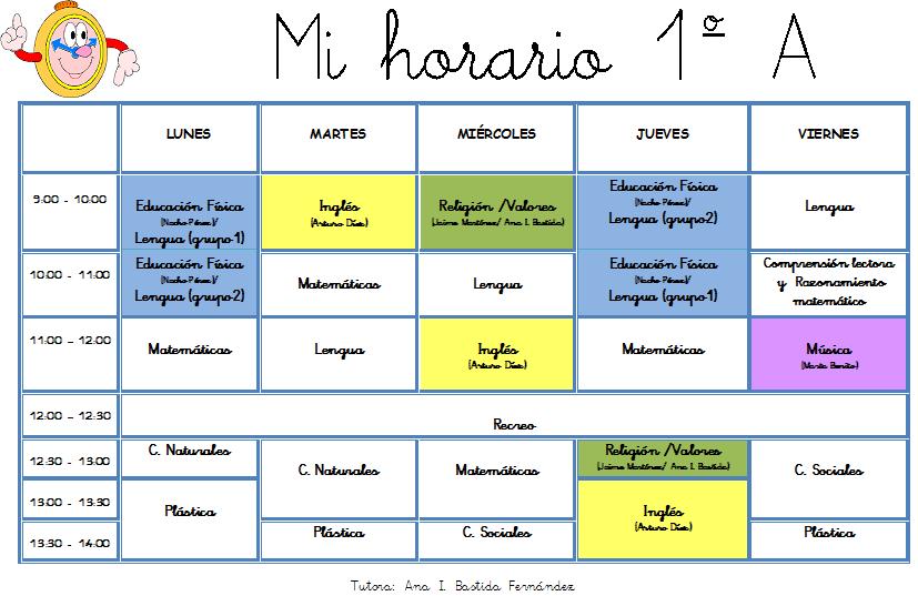 HORARIO 1º A