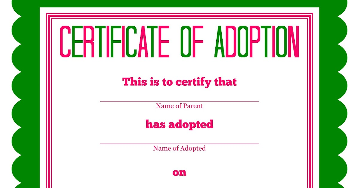 Detail-Oriented Diva!: More Stuffed Animal Adoption Certificates