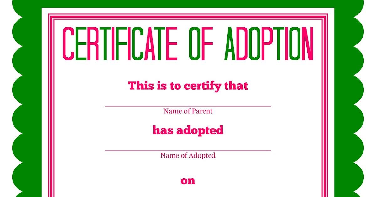 DetailOriented Diva More Stuffed Animal Adoption Certificates