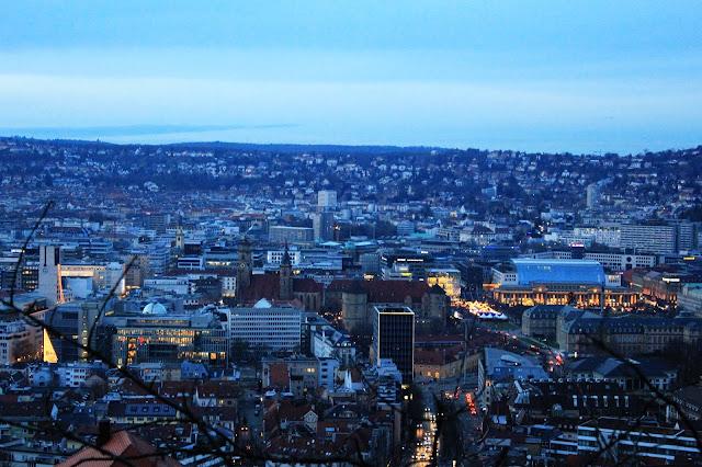 Widok na Stuttgart, Niemcy